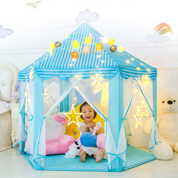 Baby toy Tent Portable Folding Prince Princess Tent Children Castle Play House Kid Gift Outdoor Beach barraca infantil gifts prince castle 65 058s relay