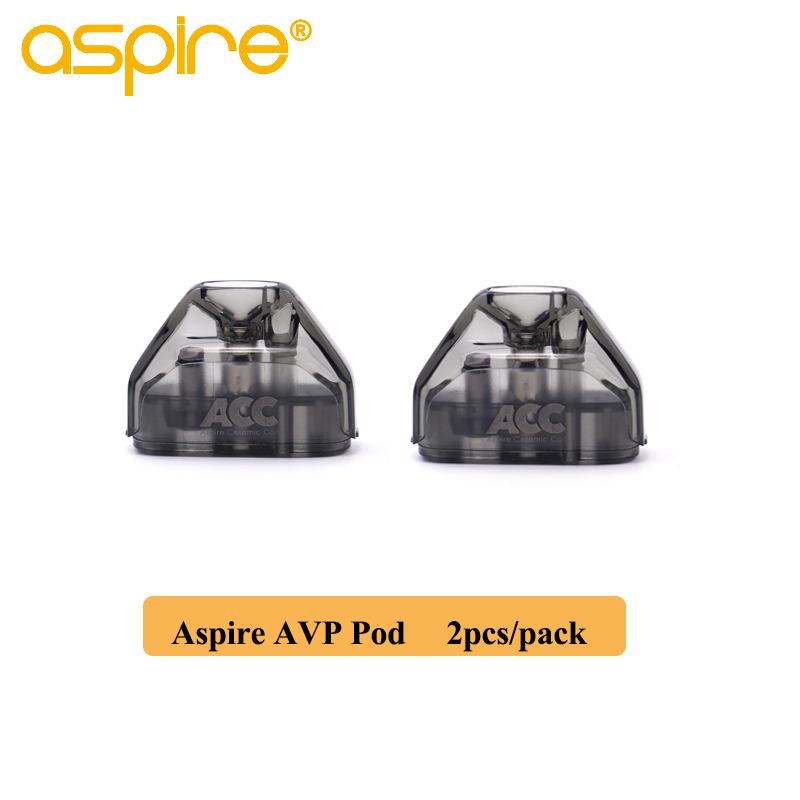 2pcs/pack Aspire AVP Pod 2ml Capacity Vape Pod Cartridge With 1.2ohm Cotton/1.3ohm Ceramic Coil Electronic Cigarette Atomizer