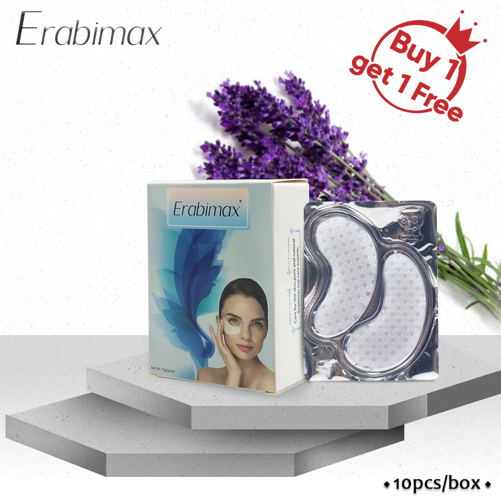 【Buy 1 Get 1 Free 】Erabimax Moisturizing Collagen Eye Mask Remove Dark Circles Eye Patches For Eye Care Herb Skin Care