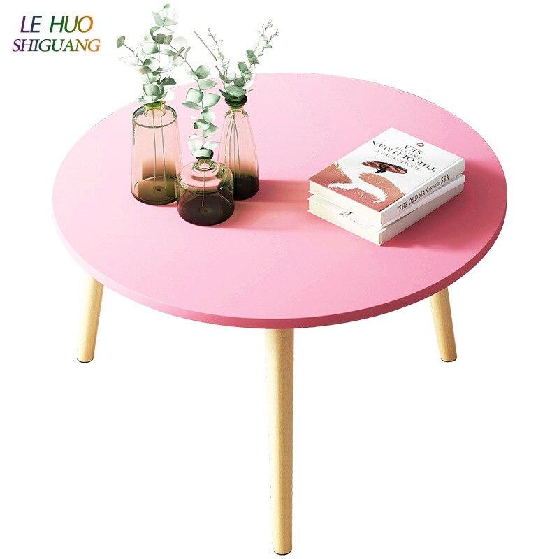 Table basse compacte conception Simple Table d'extrémité Durable moderne Table de chevet ronde pour salon et chambre