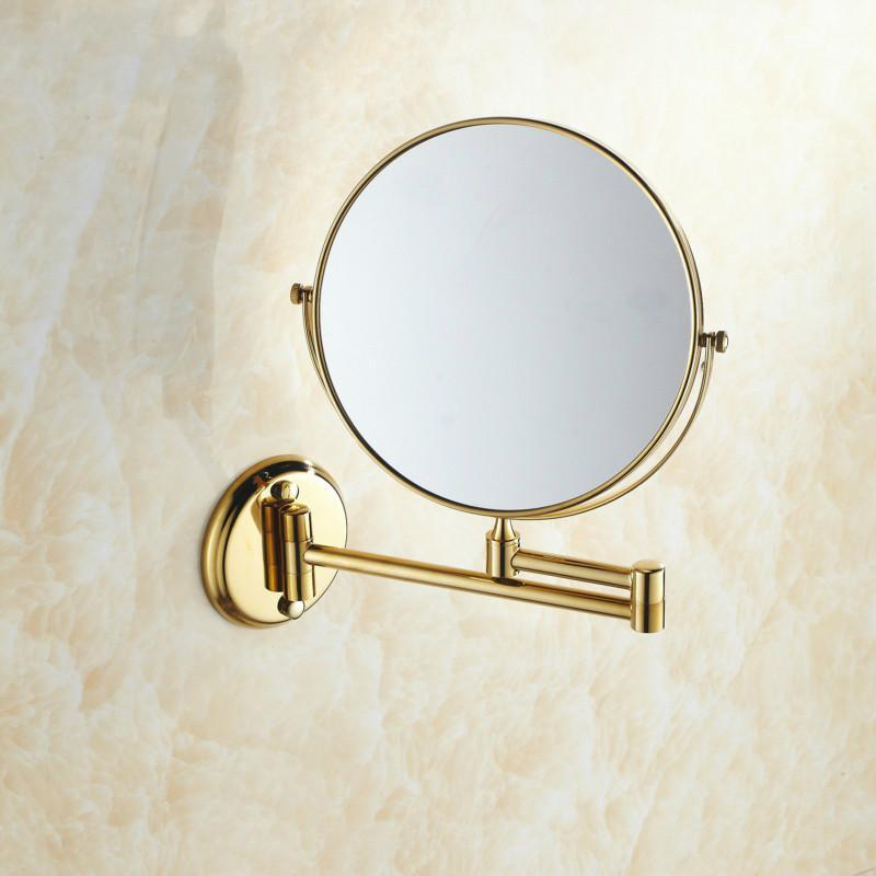 Купить двухстороннее складное латунное зеркало для макияжа в ванную