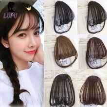 LUPU поддельные волосы челка ложная бахрома клип на челке черный коричневый блонд Наращивание волос Синтетические термостойкие шиньоны для женщин
