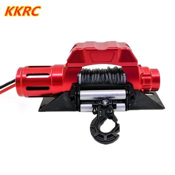 Elektryczna wciągarka samoratownicza automatyczna symulowana do 1 10 gąsienica RC oś samochodu SCX10 90046 D90 TRX4 Redcat tanie i dobre opinie YOSKD 12 + y Metal CN (pochodzenie) Pilot Samochód 1 10