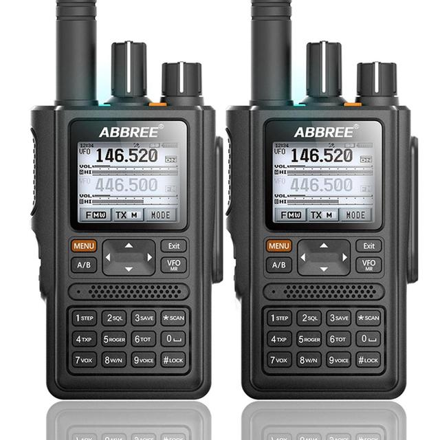 2pcsABBREE AR F8 GPS 6 bandes (136 520 MHz) 8W 999CH multi fonctionnel VOX DTMF SOS LCD couleur Amateur jambon bidirectionnel Radio talkie walkie