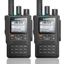 2pcsabbree AR F8 gps 6 バンド (136 520mhz) 8 ワット 999CH多機能vox dtmf sos液晶カラーアマチュアハム双方向ラジオトランシーバー