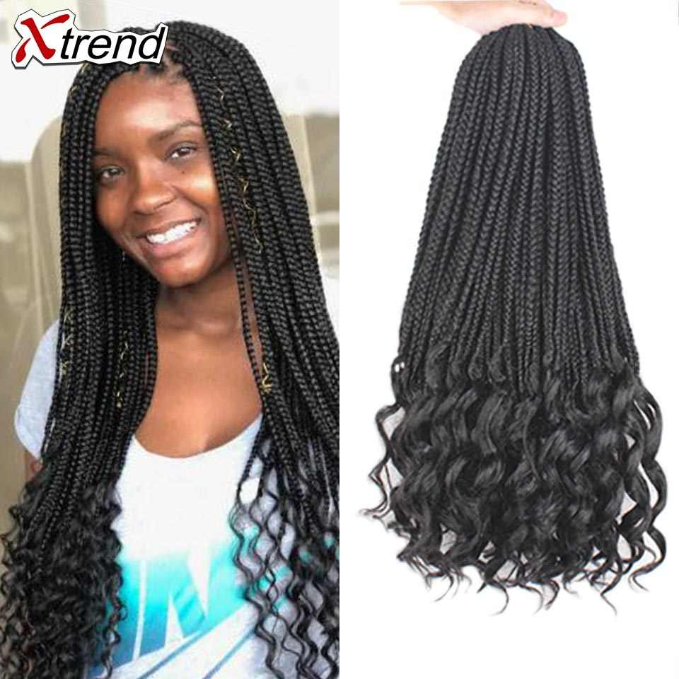 Xtrend Crochet Hair Goddess Box Braids synthetic braiding crotchet braids extensions bohemian Braid