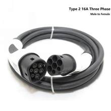 EV Charging Cable Type 2 To Type 2 Three Phase 32A EVSE Charging Plug Portable EV Charger(China)