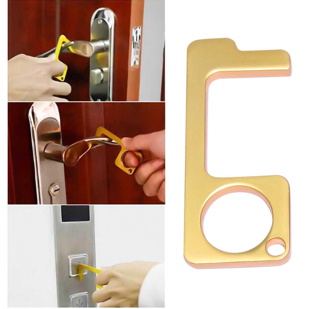 1 個衛生手抗菌キーチェーンリング edc ドアオープナー多機能ため家族キーキーホルダー