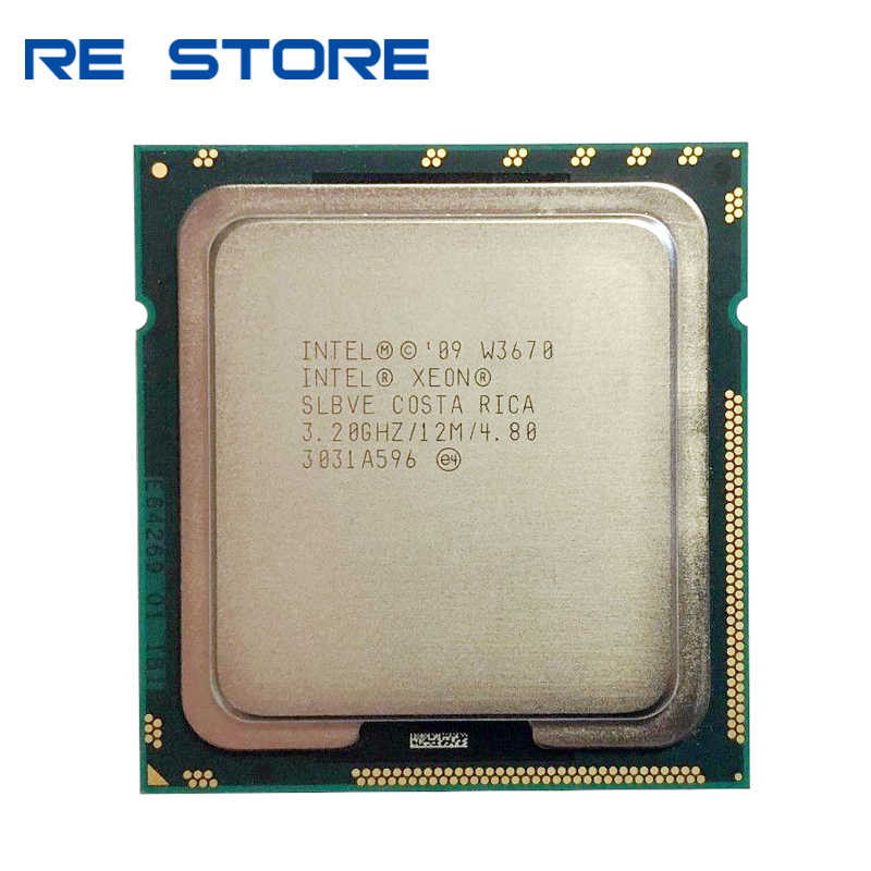 Intel Xeon W3670 3.2-3.46G Hz 12M 6 Core 12 Thread LGA 1366X58 = I7-970 Prosesor