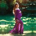 Сексуальное платье для беременных для фотосессии  платье для беременных  платья для фотосессии  Одежда для беременных  кружевное Макси-плат...