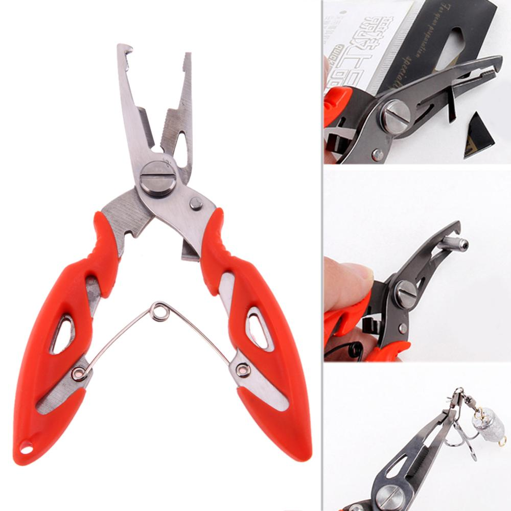 Stainless Steel Fishing Pliers Scissors Line Cutter Remove Hooks Cutting Fish Line Clip Line Tackle Wire Braid Cutter Fishing