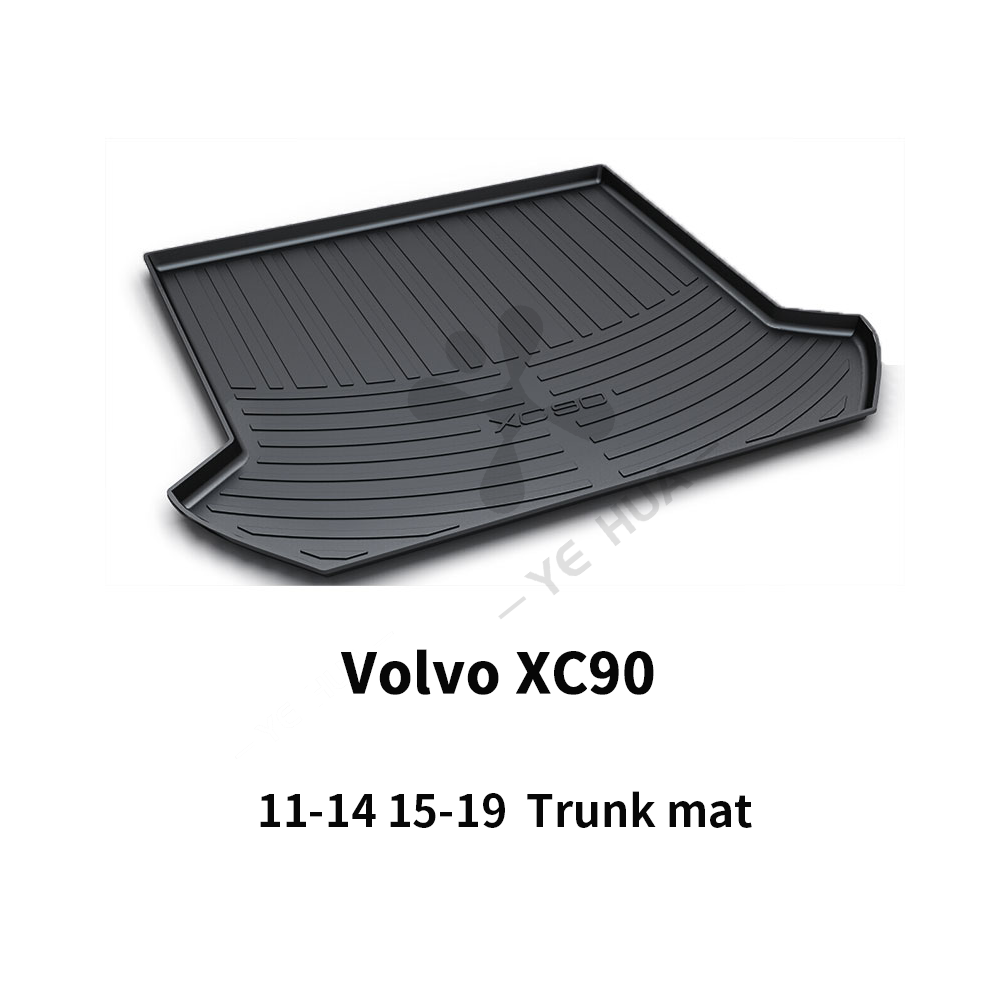 Volvo XC90 Black Heavy Duty Cargo Floor Mat-All Weather Trunk Protection, Durable HD TPO Fit For Volvo XC90 11-14 15-19