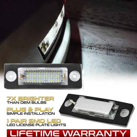 2 lampadas led para numero do carro lampada luz para placa de licenca vw transmitor