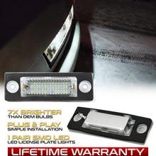 2 pçs led número da placa de licença do carro luz lâmpadas para vw syncro 5 passat b6 b5.5 transportador t5 t6 golf 4 caddy jetta 3 touran 1
