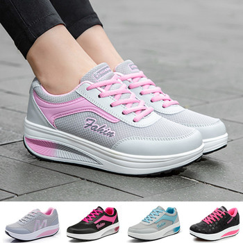 Womens Walking Shoes Fashion Lightweight Breathable Sneakers Casual Thick Bottom Shake Size 35-42