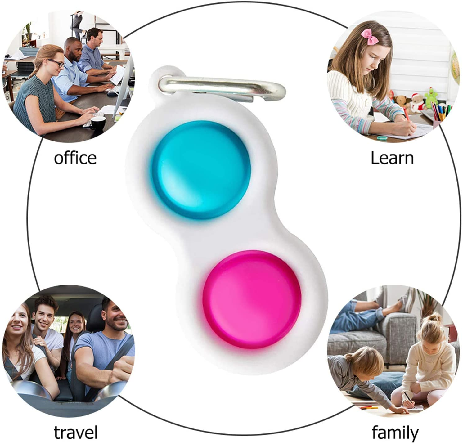 Dimple Fidget Figet-Toys Autism Help Special Toy-Stress Bubble-Sensory Squeeze Reliever img4