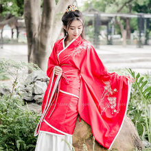 Chinese Traditional Hanfu Ancient Cosplay Costume Tang Dynasty Suit Festival Vintage Embroidered Dress Performance Dance Outfits(China)