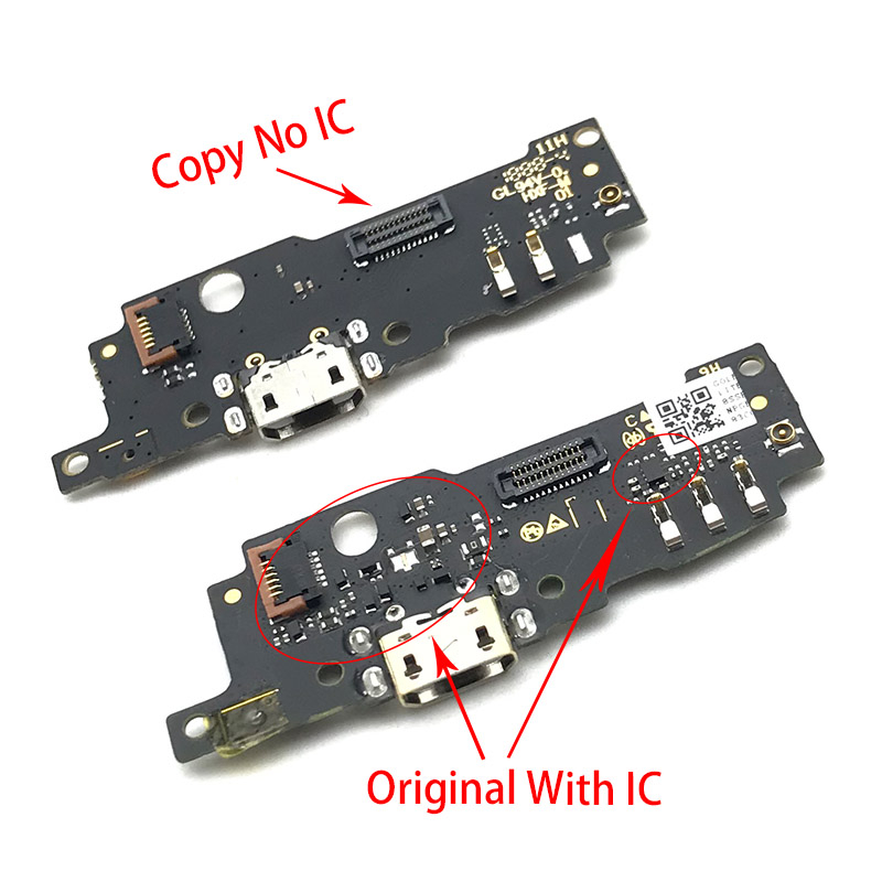 USB Charging Port Board Flex Cable Connector Parts For Motorola Moto E5 Play Go Microphone Module