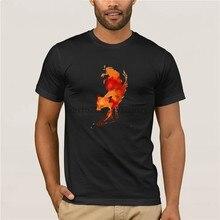G mlek erkekler 2019 Yeni Yarat c Boyal tilki k sa kollu t shirt Marka Giyim moda T Shirt 100% pamuk