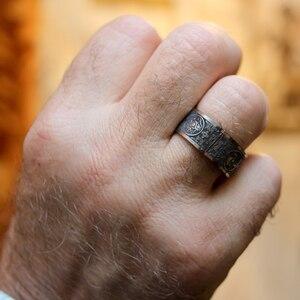 Mcllroy klasyczne pierścienie mężczyźni pierścień cztery rogu mityczny smok greckie symbole Retro tytanu stali mężczyzna prezent Punk aneis viking 2019