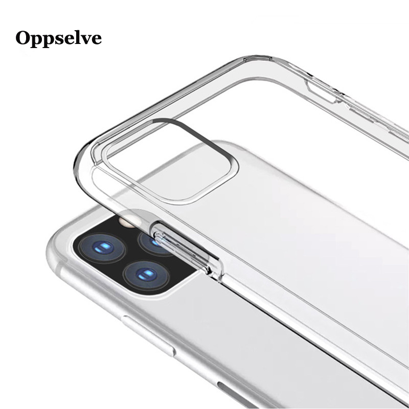 Ultra Thin Transparent Silicone Cover Oppselve For iPhone 11 2019 New Slim Clear Soft TPU protective Case Conque