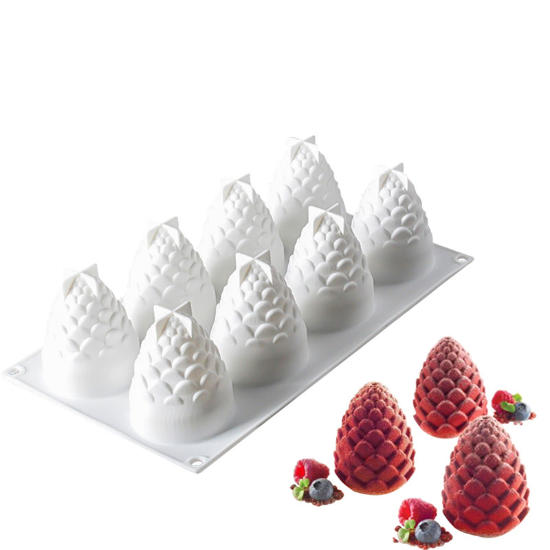 8 Cavitys Pine Cones Silicone Mold Candle Molds DIY Handmade Candle Making 3D Aromatherapy Candles Beeswax