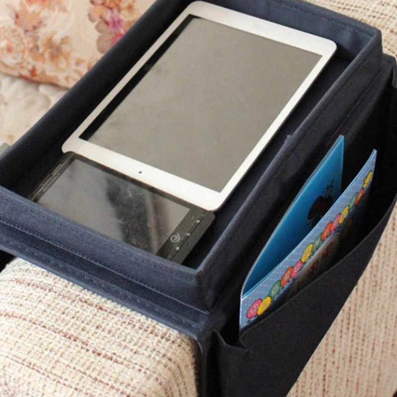 Multifunction Hanging Sofa Side Storage Bag Cell Phones Remote Control Holder Organizer Foldable 4 Pockets Storage Pouch