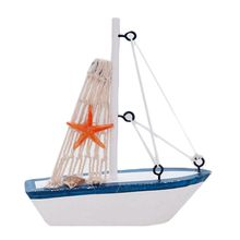 Premium New Wooden Sailing Boat Model Mini Sailboat Nautical Decor Toys Mediterranean Style Desktop Display Ornaments 1 50 classic wooden sailing boat rattlesnake 1782model kit page 2