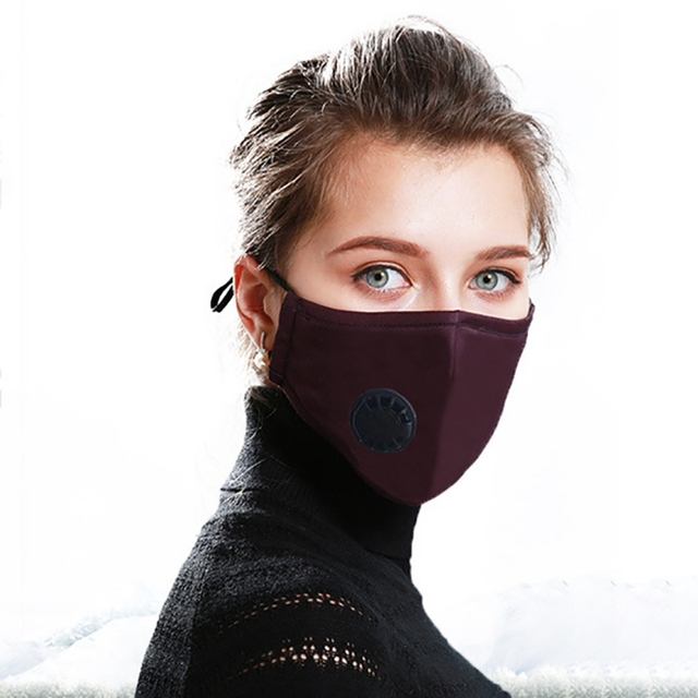 AntiDust PM2.5 Mouth Mask With 2 Replaceable Filters Anti Pollution Breathable Cotton Face Mask Washable Respirator Mouth-muffle 4