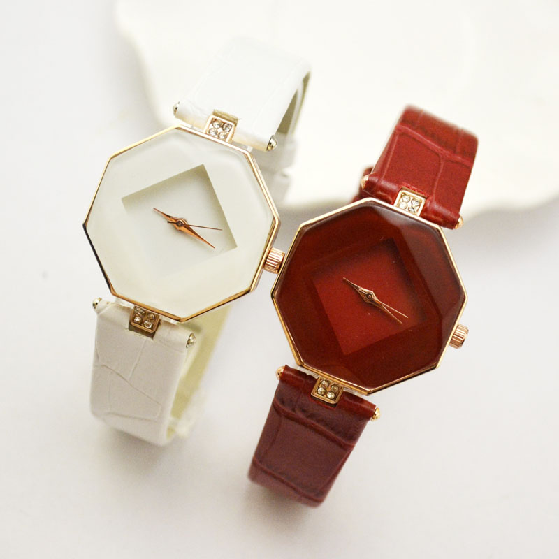 High-quality Hot 5color Jewelry Watch Fashion Gift Table Women Watches Jewel Gem Cut Rhinestones Geometry Wristwatches