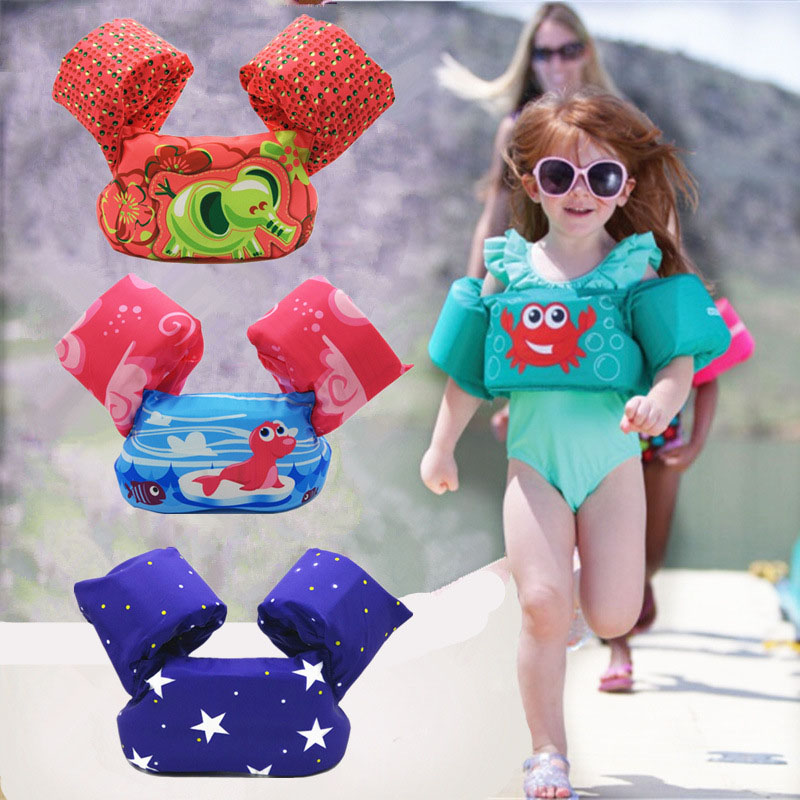 Kids Foam Life Vest Puddle Jumper Arm Swimming Ring Baby Pool Float Sleeves Safety Water Jacket Child Armband Swim-trainer