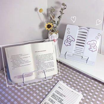New Arrival prosta seria śliczne metalowe składane regulowane czytanie stojak na książkę półka 6 biegów przenośne akcesoria szkolne artykuły papiernicze tanie i dobre opinie 202005091122 Bookends White 20cm