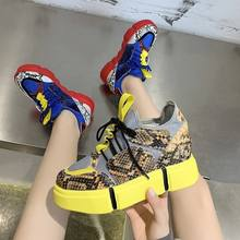 2020 casual shoes woman fashion mixed colors platform sneakers
