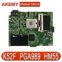 AK K52F Laptop anakart ASUS için K52F X52N A52F K52 Test orijinal anakart PGA989 HM55