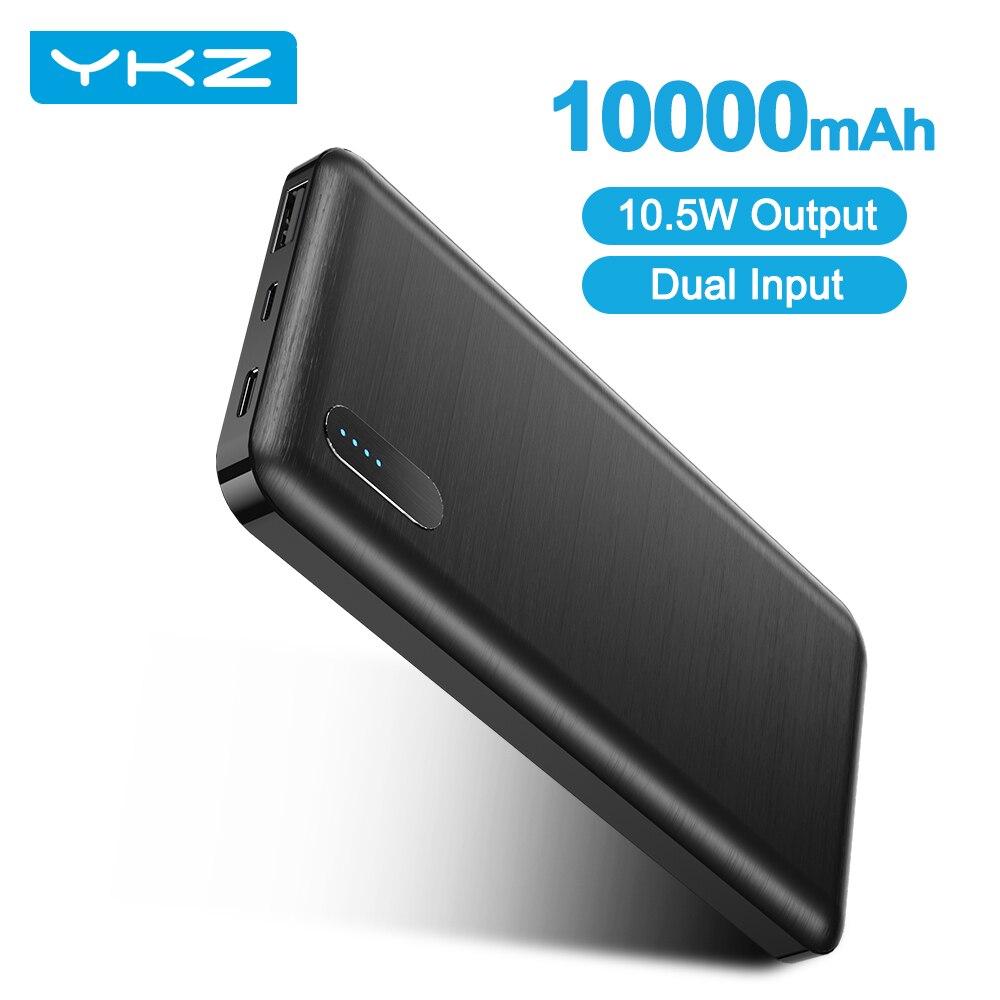 YKZ 10000 мА/ч, Мощность банк Портативный Тип USB C Мини Мощность банка, быстрая зарядка, мобильный телефон Зарядное устройство Micro USB внешний Батар...