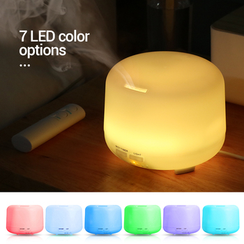 300ML USB Ultrasonic Air Aroma Humidifier With 7 Color Lights Electric Aromatherapy Essential Oil Aroma Diffuser Remote Control 1