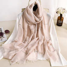 2020 spring autumn new thickening warm Plaid women's scarf air conditioning room