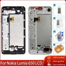 شاشة LCD أصلية 5.0 بوصة لهاتف نوكيا لوميا 650 RM 1152 1154 1109 1113 شاشة LCD تعمل باللمس مع استبدال محول رقمي للإطار