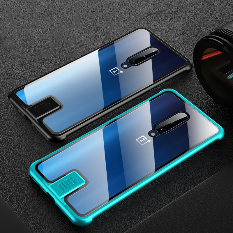Luxury Metal <font><b>Case</b></font> For <font><b>Oneplus</b></font> 7 Pro <font><b>6T</b></font> Cover Tempered Glass Shockproof Armor Full Cover For <font><b>Oneplus</b></font> 7Pro 7 Pro Coque Funda image