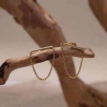 Модные минималистичные серьги в стиле панк с наручниками и цепочкой