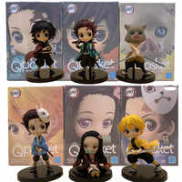 Kimetsu no Yaiba Nezuko Tanjirou Zenitsu Giyuu Inosuke PVC Action Figure Q.ver Anime Demon Slayer Figurine Toys 3pcs/set
