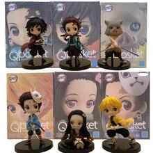 Kimetsu no Yaiba Nezuko Tanjirou Zenitsu Giyuu Inosuke PVC Figurine Q. ver Anime démon tueur Figurine jouets 3 pièces/ensemble