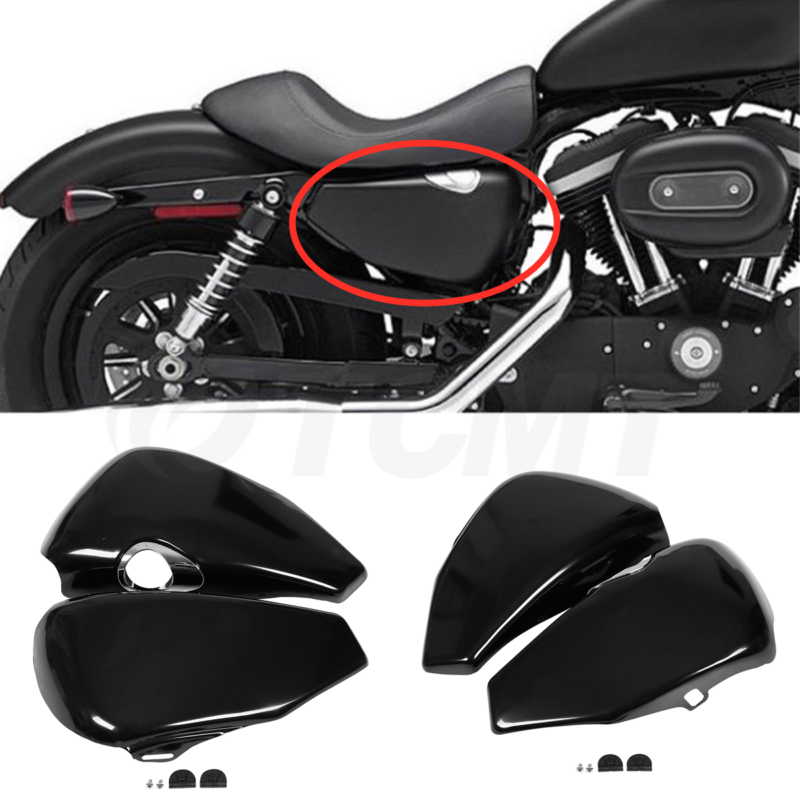 Motorcycle Left Right Battery Cover For <font><b>Harley</b></font> Sportster XL883 XL1200 <font><b>Iron</b></font> 1200 <font><b>883</b></font> 2004-2013 2014-2020 image