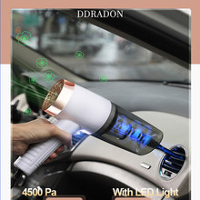 Car Vacuum Cleaner 4500Pa Cordless Handheld Mini Vacuum Cleaner Interior & Home & Computer Cleaning Wireless Auto Vacuum