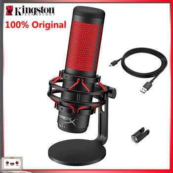 Kingston hyperx quadcast usb condensador microfone de jogos profissional computador microfone para pc ps4 mac podcasts twitch youtube