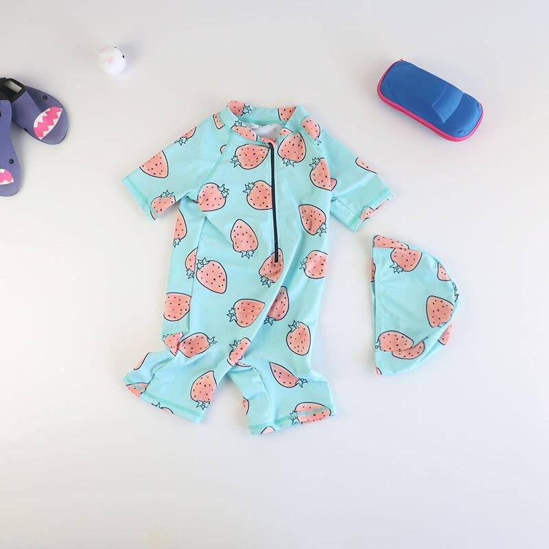 South Korea Girls KID'S Swimwear One-piece BOY'S Sun-resistant Quick-Dry Wetsuit Seaside Beach Swimwear Baby Hot Springs Suit