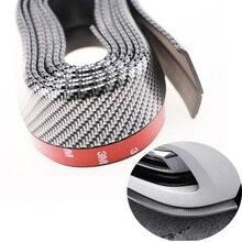 цена на 2.5m Car Bumper Lip Protector Car Front Bumper Lip Rubber Strip Sticker Body Kit Car Styling Auto Accessories