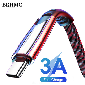 BRHMC 3A USB Type C Cable Fast Charge Wire Type-C for Samsung Galaxy Xiaomi Huawei Mobile Phone USB C USB-C Cable Charger Cord 1