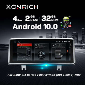 10.25 IPS 4 Core Android 10 CAR DVD radio player for BMW F30/F31/F34/F20/F21/F32/F33/F36 NBT car Multimedia GPS Navigation nbt image