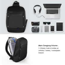 Kingsons Single Shoulder Backpack Men Small Backpack Waterproof Laptop Backpack 13/13.3 inch Mini School Bags for Teenage Boys